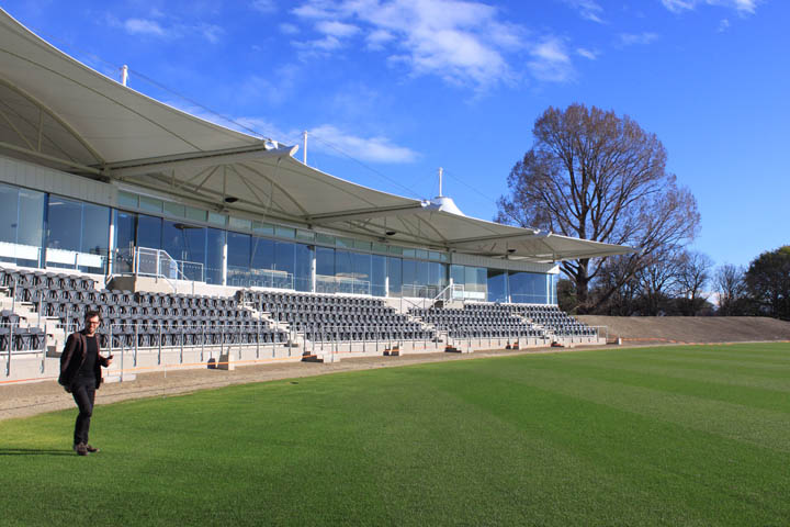 4. Hagley view under canopy from pitch